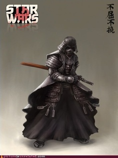 This is totally awesome since Darth Vader's armor was originally based on Samurai armor...
