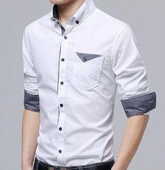 Mens Button Down Shirt with Flip Pocket Pant Shirt, Silk Shirt Dress, Dress Shirts, Business Casual Men, Men Casual, Mens Casual Dress Outfits, Best Casual Shirts, Boys Kurta, Dinner Wear