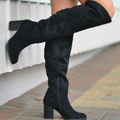 a2bca92b8f Walk Into Winter Suede Black Tall Boot From Cousin Couture. Black Heel Boots,  Tall