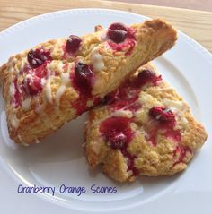 Cranberry orange scones - perfect when you have overnight guests!