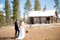 A rustic fall wedding at Devil's Thumb Ranch (image: Brinton Studios).