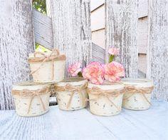 Shabby Chic Mason Jar Votive / Tea Light Holders by SoFrickinCute, $40.00