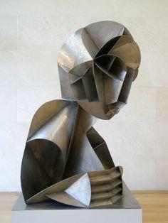 "Joseph J Abhar - Naum Gabo 'Constructed Head"""