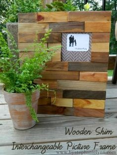 Photo Frame made from Wood Shims