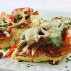 Classic Monterey Chicken with sauteed onions, peppers and mushrooms. Turkey Dishes, Turkey Recipes, Chicken Recipes, Food Dishes, Main Dishes, Monterey Chicken, Cooking Recipes, Healthy Recipes, Skinny Recipes