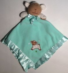 LOVEY Blankets Beyond Lamb Sheep Green Fleece Security Blanket Baby Nunu Woobie #BlanketsBeyond