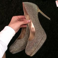 Beautiful heels! HOMECOMING Super pretty gold and black heels, perfect for homecoming, or any dressing up occasion. (: in great condition. Only worn once. PINK Victoria's Secret Shoes Heels