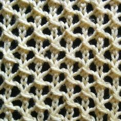 The Net stitch is easy to remember and is a fast knit. This openwork stitch is perfect for knitted summer cover-ups and market bags!