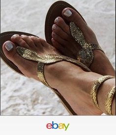 77b609985b1904 Aspiga Cobra Snake Sandals Gold Flip Flops Leather Hand Made in India Sexy  eb style