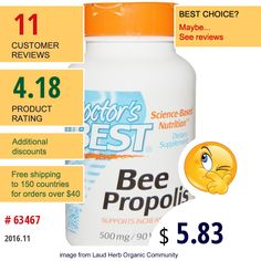Doctors Best #BeeProducts #BeePropolis