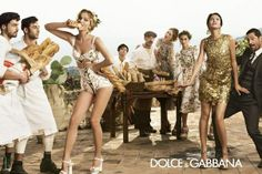 Adam, Bianca, Catherine, Eva, Evandro, Marine, Noah, Tony by Domenico Dolce for Dolce & Gabbana Spring Summer 2014