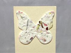 Butterfly seed bookmark garden wedding favor. @Green Wedding Ideas by Green Bride Guide / Kate