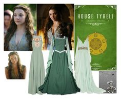 Game Of Thrones - Margaery Tyrell by hellzbell on Polyvore featuring polyvore, fashion, style, Marchesa, Matthew Williamson and clothing