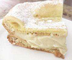 """Karpatka"" the Vanilla Cream Cake Recipe inspired by the Carpathian Mountains Polish Desserts, Polish Recipes, Polish Food, Baked Salmon Recipes, Seafood Recipes, Cooking Recipes, Tea Cakes, Cupcake Cakes, Cupcakes"