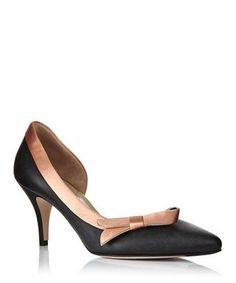 7324ee632 Black D orsay kitten heels by Salvatore Ferragamo on secretsales.com