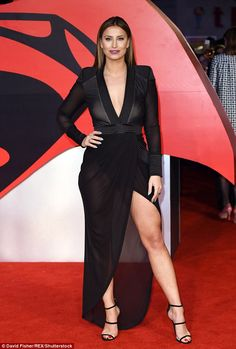 Oo-er missus! Later on Tuesday, the 25-year-old TOWIE babe stunned on the red carpet at the Batman V Superman premiere in London