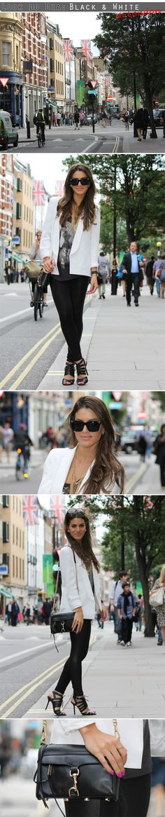 Look do Dia: Black and White (In London)