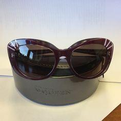😍alexander mcqueen 😍brand new! authentic. very cool purplish color...cateye. Never worn Alexander McQueen Accessories Glasses