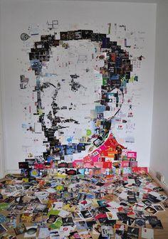 Mao made of Postcards by Amir Zainorin