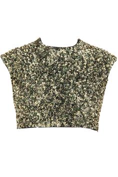 Mushroom sequins embellished crop top  from ILK BY SHIKHA AND VINITA . Shop now at perniaspopupshop.com #perniaspopupshop #clothes #womensfashion #love #indiandesigner #shikhaand vinita #ILK #happyshopping #sexy #chic #fabulous #PerniasPopUpShop #quirky #fun