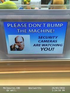 Security Cameras are watching you if u bump this Arcade Claw Machine   Arcade Camera Entertainment Melbourne Security Vending-Machines