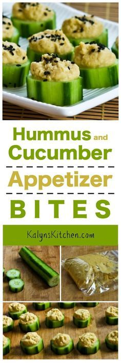 Every football-watching party needs at least one healthy appetizer, and these Hummus and Cucumber Appetizer Bites with Sesame Seeds are tasty and easy to make! [found on http://KalynsKitchen.com]