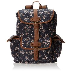 Wild Pair Ditsy Floral Cargo With Glitter Trim Backpack Handbag (1,845 DOP) ❤ liked on Polyvore featuring bags, backpacks, accessories, cargo bag, glitter bag, glitter backpack, cargo backpack and day pack backpack