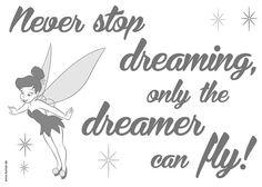 Komar Decosticker grau, »Never stop dreaming« Jetzt bestellen unter: https://moebel.ladendirekt.de/dekoration/wandtattoos/wandtattoos/?uid=8c67a86d-7ba2-54a7-9cbb-9913a1e4f07a&utm_source=pinterest&utm_medium=pin&utm_campaign=boards #tattoos #dekoration