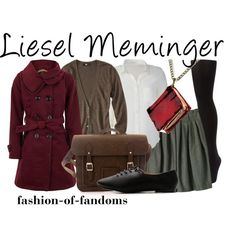 Liesel Meminger -- The Book Thief I'm so very satisfied and content that this was created!! All of these type of matched outfits are generally created for fictional Disney princesses, which is why I'm so elated by the fact that there is finally one for a book character whom I love? From a book I will always cherish!