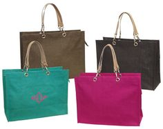 Personalized Jute Tote Bag Makes a Perfect by stitchedandstamped, $18.00