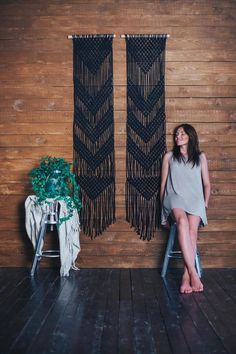 Macrame wall hanging black wall art boho home decor What is Decoration? Decoration is the art of decorating the inside … Black Wall Art, Black Walls, Black Wall Decor, Funky Home Decor, Asian Home Decor, Best Home Interior Design, Decor Interior Design, Modern Interior, Interior Decorating