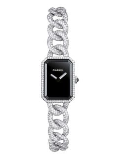 Chanel's Première watch in 18-carat white gold with diamonds.