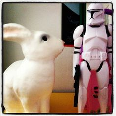 Rabbit lamp and Stormtrooper