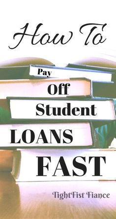 Paying off student debt fast can be tricky. This article is all about helping you save money to pay off your student loans quickly! Repayment of student loans doesn't have to take the rest of your life! Private Student Loan, Federal Student Loans, Paying Off Student Loans, Student Loan Debt, College Loans, Scholarships For College, Loan Money, Student Loan Forgiveness, Home Improvement Loans