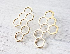 Kim Post Earrings, statement geometric earrings, Scandinavian design by shlomitofir on Etsy https://www.etsy.com/listing/165738628/kim-post-earrings-statement-geometric