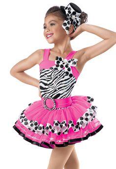 Zebra Print Pink Tiered Dress -Weissman Costumes