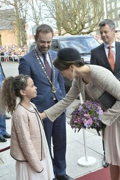 The Danish Royal family attended a lunch reception to mark the forthcoming 75th Birthday of Queen Margrethe II of Denmark. at Aarhus City Hall. on April 8, 2015 in Aarhus, Denmark.