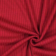Tricot rainuré 102 - Polyester - Élasthanne - rouge