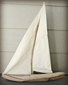 The Wicker House: Driftwood Sailboat
