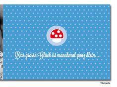 """Geburtskarte """"Pilz & Punkte"""", beliebige Anzahl"""