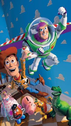 30 Ideas for wallpaper phone disney toy story movies Toy Story 3, Toy Story 1995, Disney Kunst, Disney Art, Disney Pixar, Disney Ideas, Cartoon Wallpaper Iphone, Disney Phone Wallpaper, Cartoon Cartoon