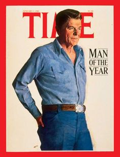 TIME names U. President Ronald Wilson Reagan its Man of the Year. He remains one of the greatest Presidents in American History. Obama is easily the worst with Carter now at Greatest Presidents, American Presidents, Us Presidents, American History, 40th President, President Ronald Reagan, Presidential History, Presidential Portraits, Nancy Reagan