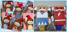 Sock Monkey Party Ideas: sock monkey crafts