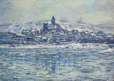 Vetheuil, Ice Floes - Claude Monet 1881