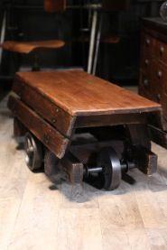 D co industriel on pinterest atelier deco and loft - Table basse rehaussable ...