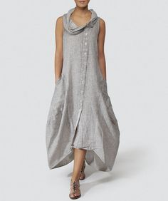 Grizas Marled Linen Dress