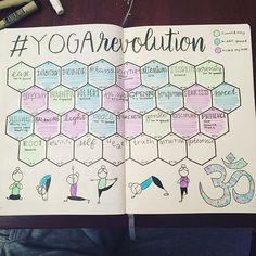 Hexagon bullet journal layout