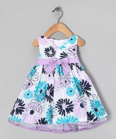 Pastel Purple & Blue Floral Dress Set - Infant by Nannette on #zulily today!  $17.99