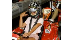 Beyoncé's Life Through Tumblr | Fast and Furious Go speed racer, go! Bey, along with husband Jay Z (seated behind her) and daughter Blue Ivy, recently celebrated a family friend's birthday at an indoor go-kart track. From the looks of their pics, this family is meant for life in the fast lane.