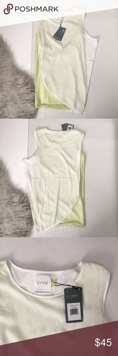 Lysse double layer tank top New with tags Layered under layer is fitted top layer is loose fit No discoloration No Flaws No Defects Bundle & Save 10% | OPEN TO REASONABLE OFFERS THROUGH THE OFFER BUTTON lysse Tops Tank Tops